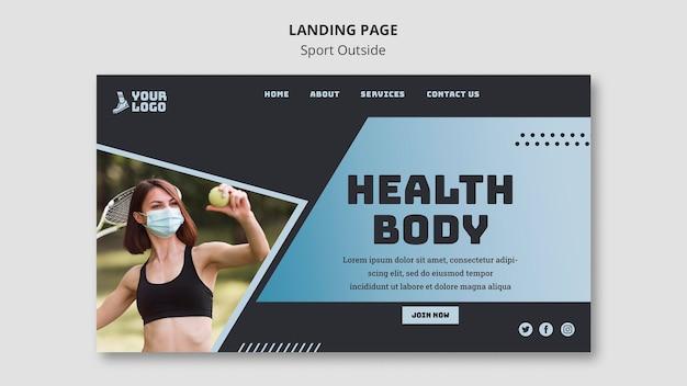 Sport außerhalb landingpage-thema Kostenlosen PSD