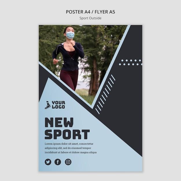 Sport außerhalb plakat thema Kostenlosen PSD