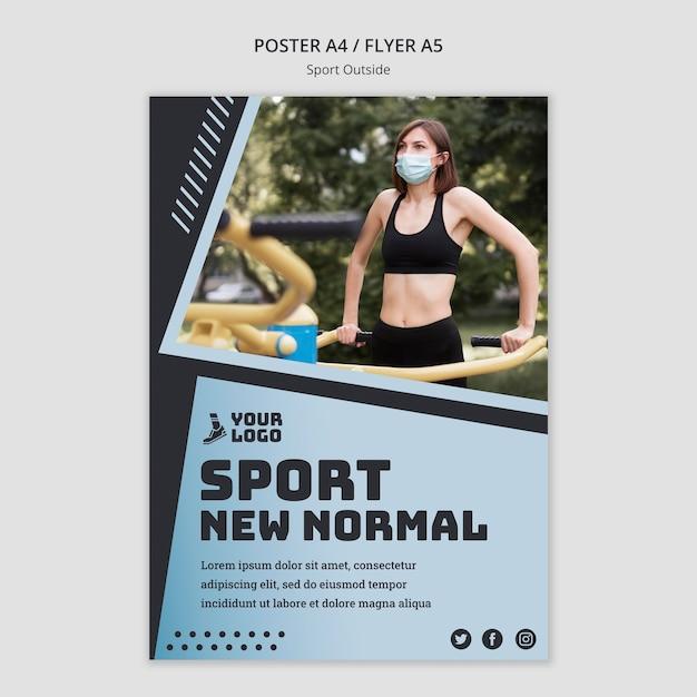 Sport außerhalb plakatgestaltung Kostenlosen PSD