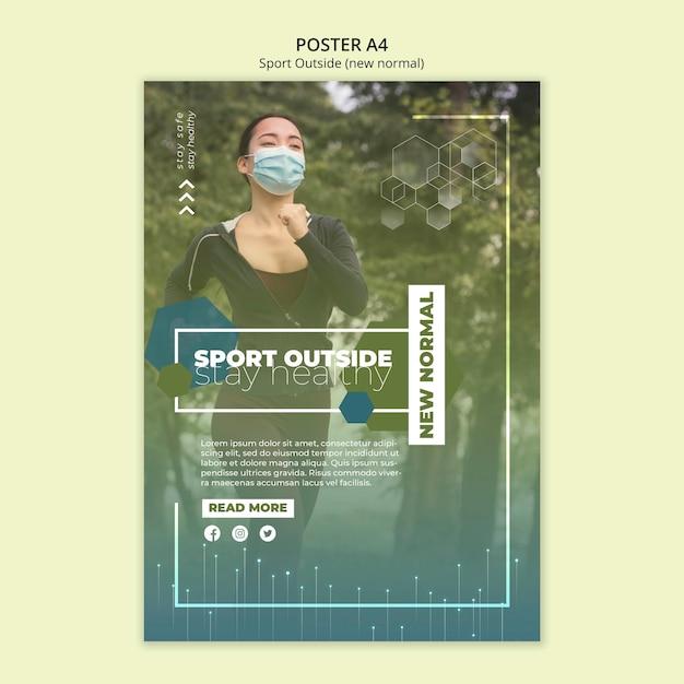 Sport außerhalb plakatschablone Kostenlosen PSD