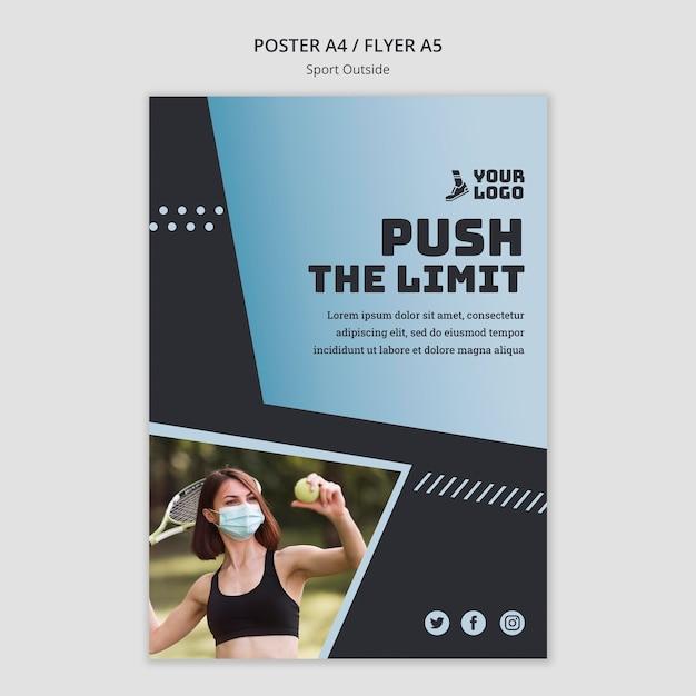 Sport außerhalb poster vorlage thema Kostenlosen PSD