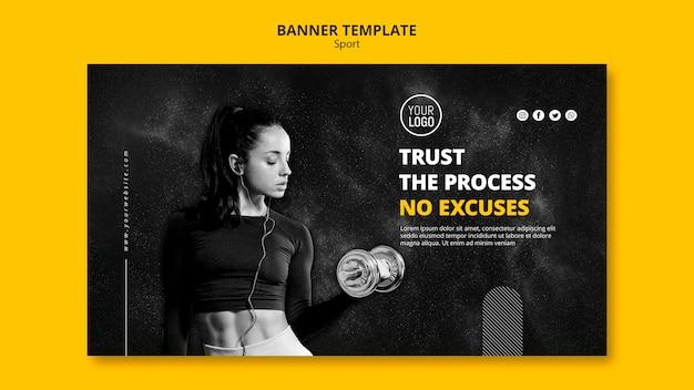 Sport banner vorlage design Kostenlosen PSD