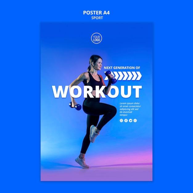 Sport flyer vorlage design Kostenlosen PSD