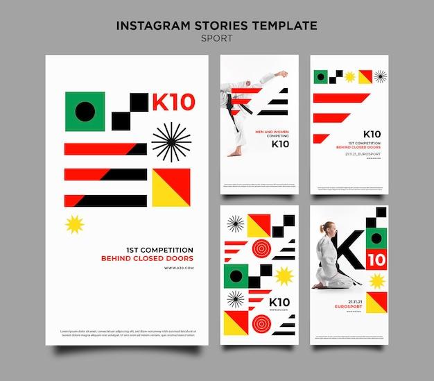 Sport k10 instagram geschichten vorlage Kostenlosen PSD