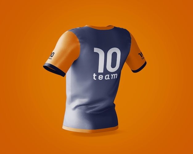 Sport-shirt-modell mit markenlogo Kostenlosen PSD