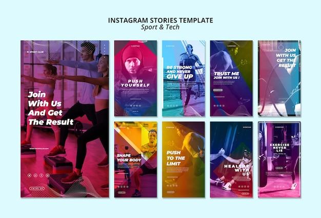 Sport & tech instagram geschichten vorlage Kostenlosen PSD