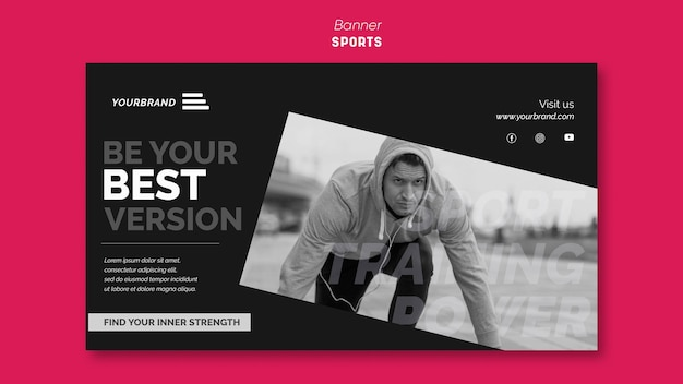 Sportwerbevorlage banner Kostenlosen PSD