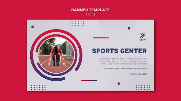 Sportzentrum banner vorlage Kostenlosen PSD