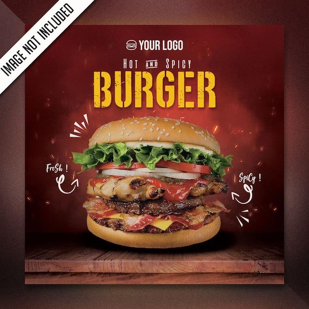 Square food menü spezial flyer psd Premium PSD