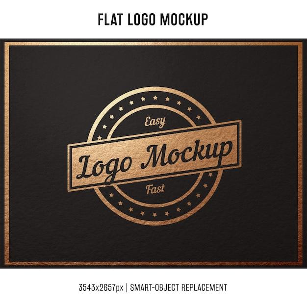 Stamped logo mock up Kostenlosen PSD