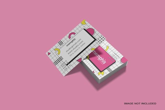 Stapel visitenkartenmodell isoliert Premium PSD