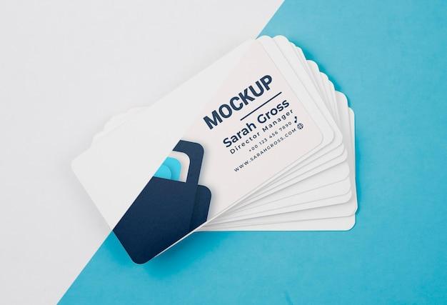 Stapel von blauen visitenkartenmodell Kostenlosen PSD