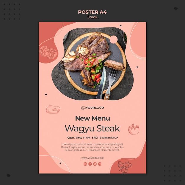Steak poster vorlage Kostenlosen PSD