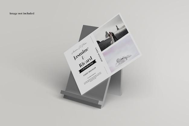 Stehendes postkartenmodell Premium PSD