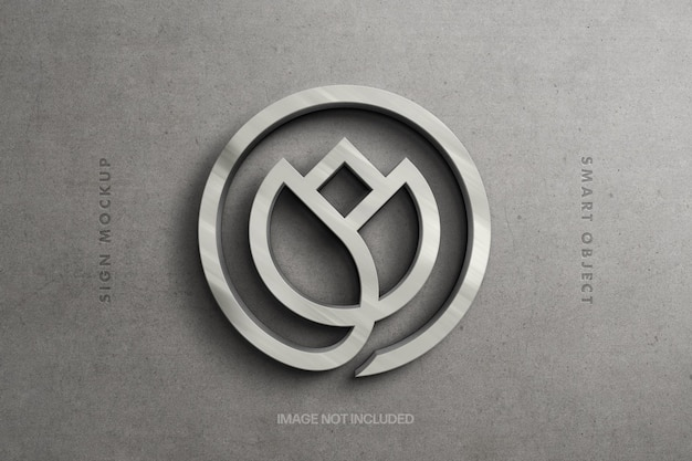 Sterling silber logo modell design Premium PSD