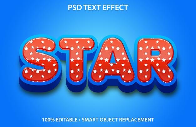 Sternentext-effekt Premium PSD