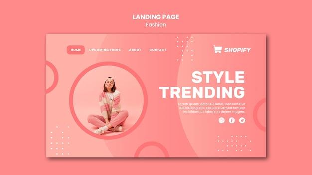 Stil trend landing page vorlage Premium PSD