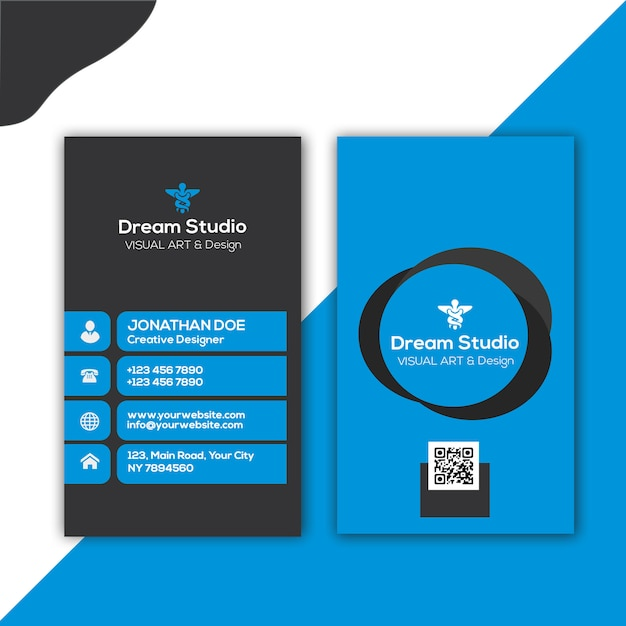 Stilvolle visitenkarte Premium PSD