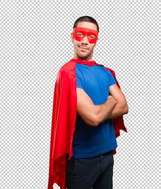 Stolzer superheld mit verschränkten armen Premium PSD