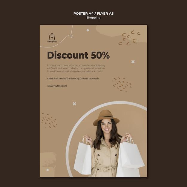 Store sale flyer vorlage Kostenlosen PSD