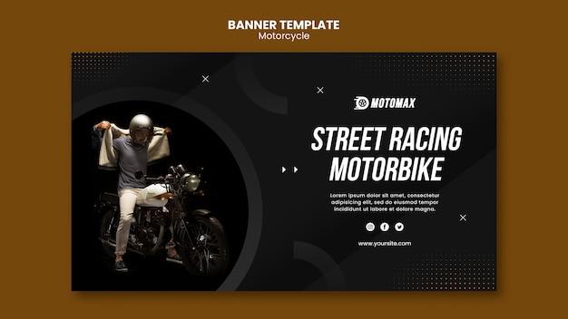 Straßenrennen motorrad banner vorlage Kostenlosen PSD