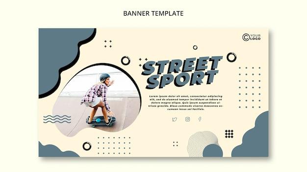 Straßensport-banner-vorlage Kostenlosen PSD