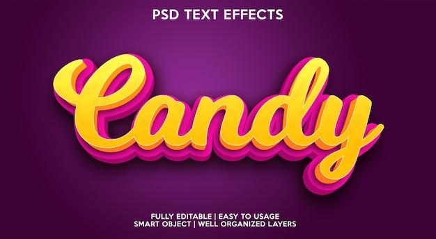 Süßigkeitstexteffekt Premium PSD