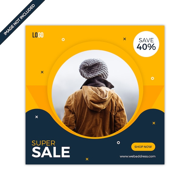 Super sale social media instagram post vorlage Premium PSD
