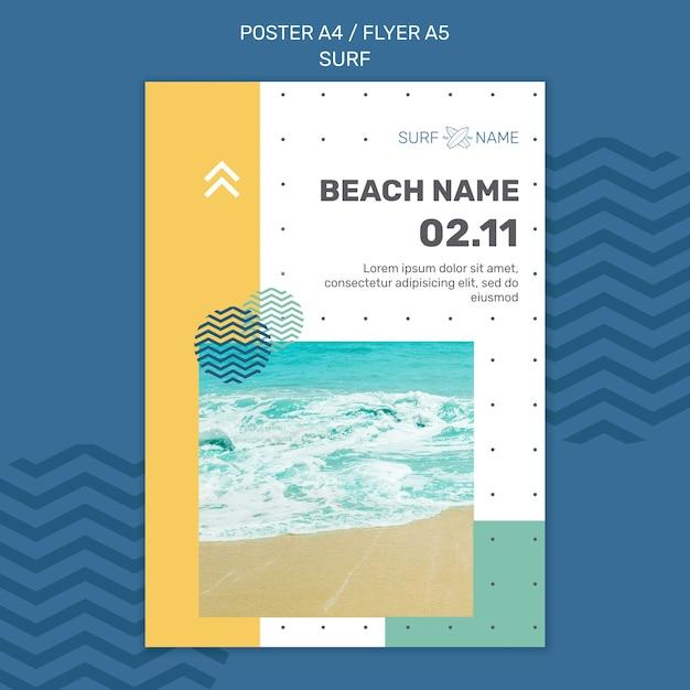 Surfing anzeigenvorlage flyer Kostenlosen PSD