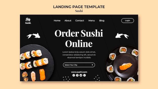 Sushi landing page vorlage Kostenlosen PSD