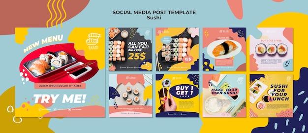 Sushi social media post vorlage Kostenlosen PSD