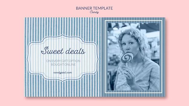 Sweet deals candy shop banner vorlage Kostenlosen PSD
