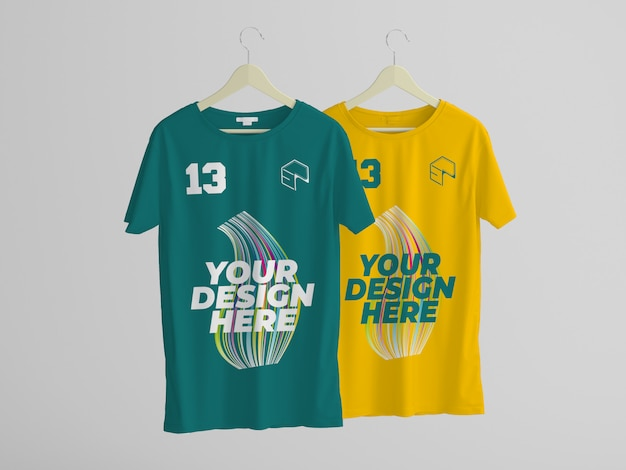 T-shirt design modell Premium PSD