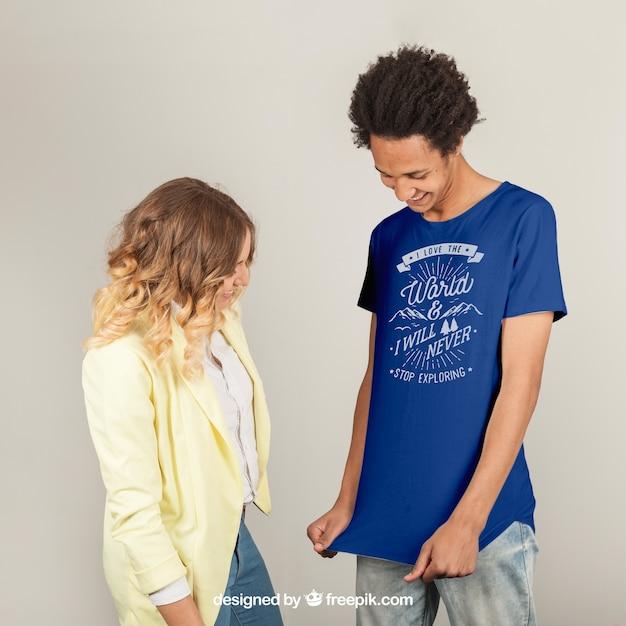 T-shirt druckvorlage Kostenlosen PSD