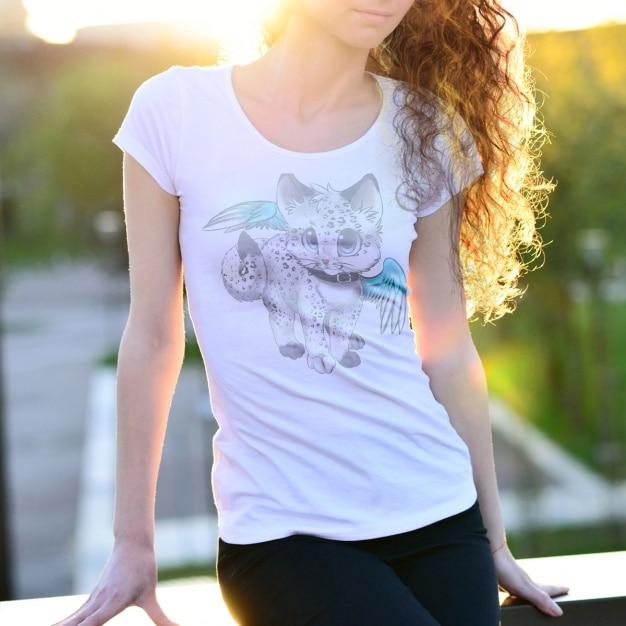 T-shirt mock-up-design Kostenlosen PSD