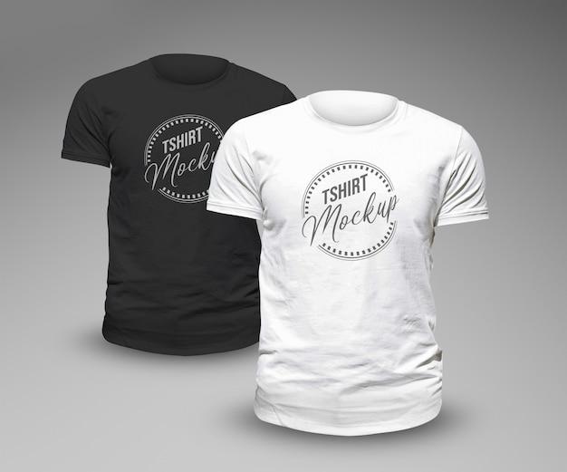 T-shirt modell vorlage design Premium PSD