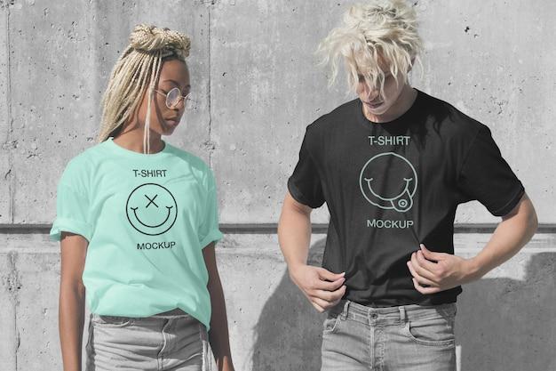 T-shirt modell Premium PSD