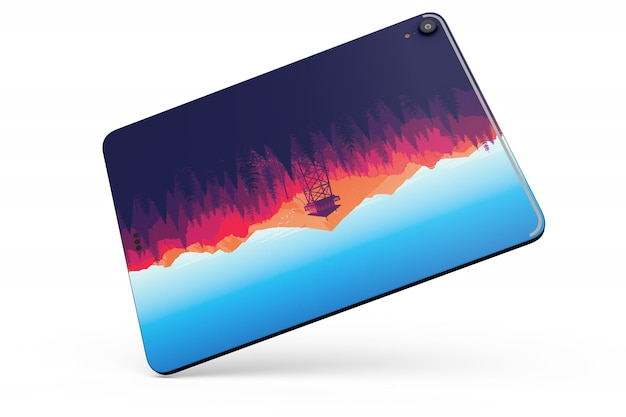 Tablet-haut-modell isoliert Kostenlosen PSD