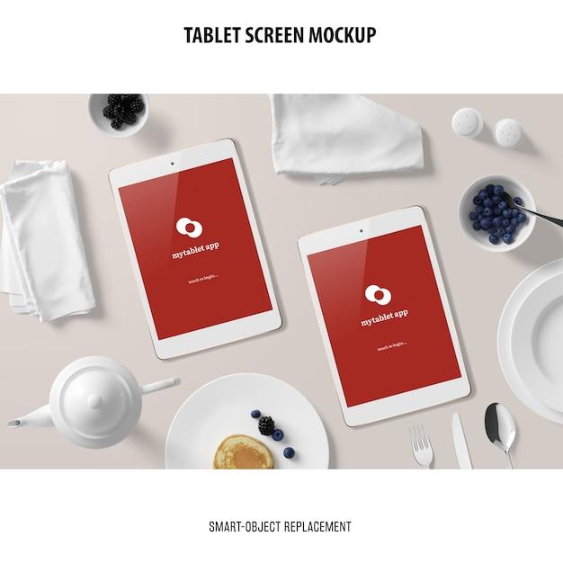 Tablet screen mockup Kostenlosen PSD