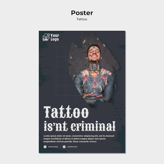 Tätowierer plakatvorlage Kostenlosen PSD
