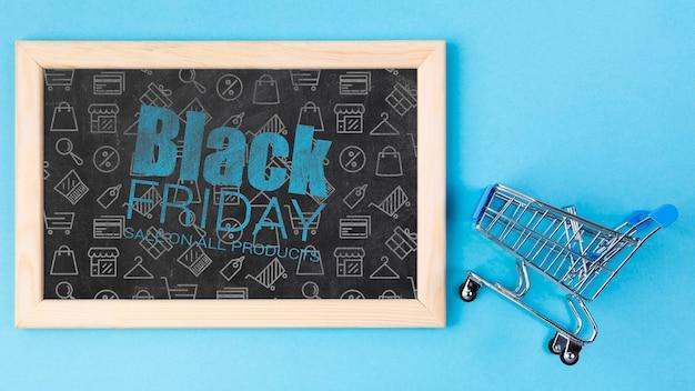 Tafel mit schwarzer freitag-mitteilung Kostenlosen PSD