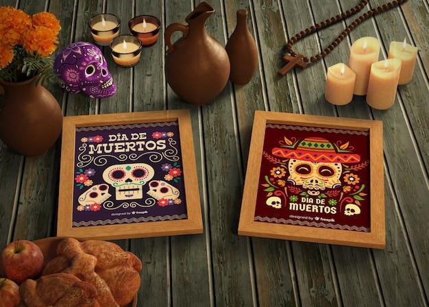 Tag der toten traditionellen mexikanischen modelle Kostenlosen PSD