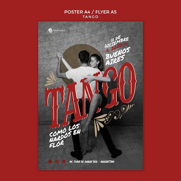 Tango event flyer druckvorlage Kostenlosen PSD