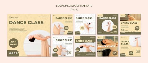 Tanzen social media post vorlage Kostenlosen PSD