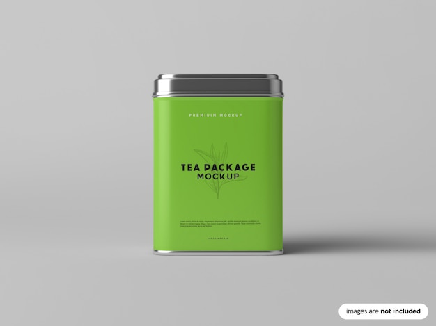 Tea package mockup Premium PSD