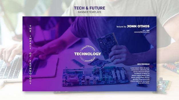 Tech & zukunftskonzept banner vorlage Premium PSD