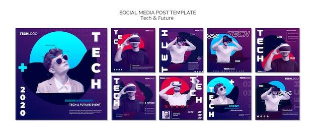Technologiekonzept für social media post Kostenlosen PSD