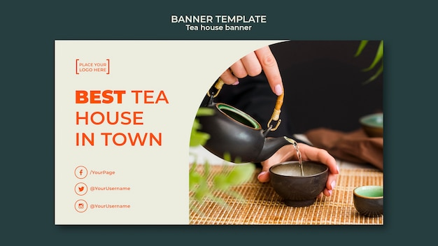 Teehaus vorlage banner Kostenlosen PSD