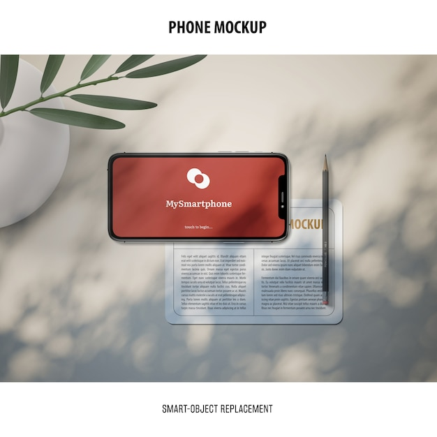 Telefonbildschirm-modell Kostenlosen PSD