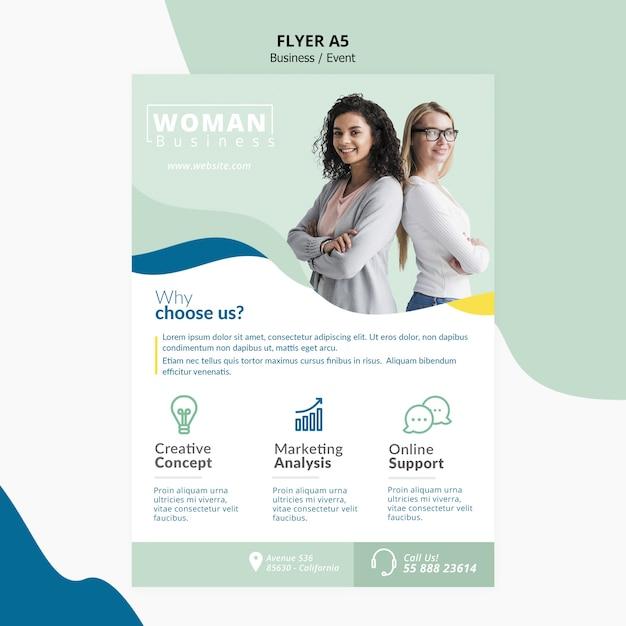 Template design für corporate flyer Kostenlosen PSD